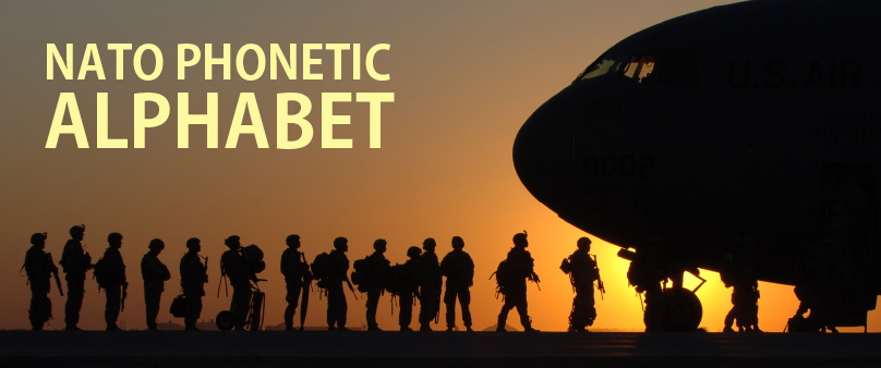 NATO phonetic alphabet banner